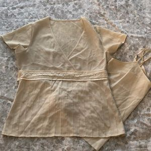 Old Navy Tops - Gorgeous cream pleated top
